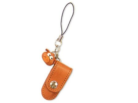 PIG LEATHER CELLULARPHONE CHARM PENCIL CASE
