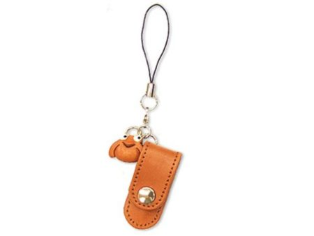 FROG LEATHER CELLULARPHONE CHARM PENCIL CASE