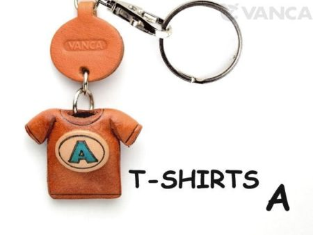 A(BLUE) JAPANESE LEATHER KEYCHAINS T-SHIRT