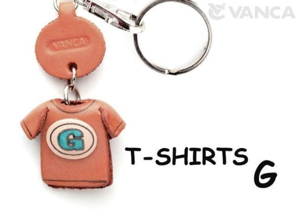 G(BLUE) LEATHER KEYCHAINS T-SHIRT