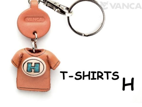 H(BLUE) LEATHER KEYCHAINS T-SHIRT