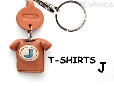 J(BLUE) LEATHER KEYCHAINS T-SHIRT