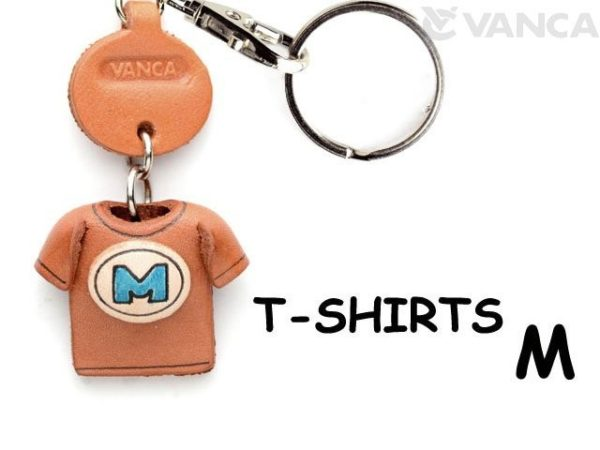 M(BLUE) LEATHER KEYCHAINS T-SHIRT