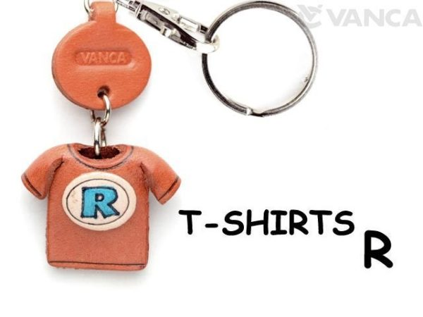 R(BLUE) LEATHER KEYCHAINS T-SHIRT