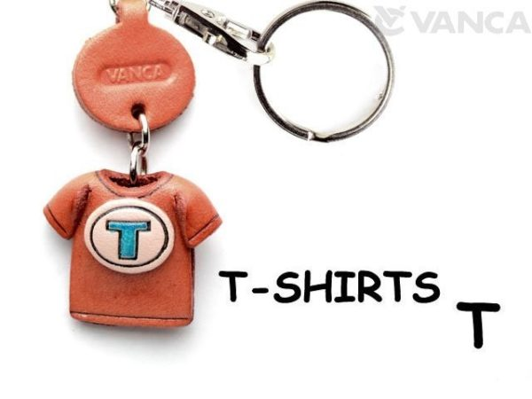 T(BLUE) LEATHER KEYCHAINS T-SHIRT