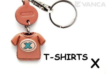 X(BLUE) LEATHER KEYCHAINS T-SHIRT