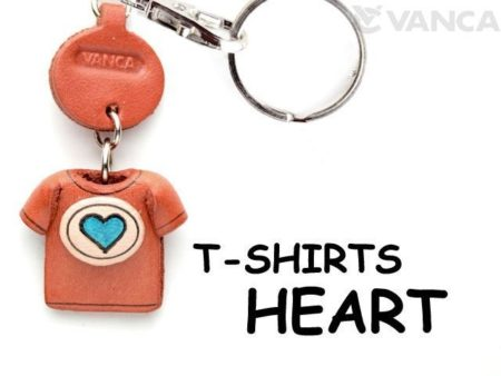 HEART MARK(BLUE) LEATHER KEYCHAINS T-SHIRT
