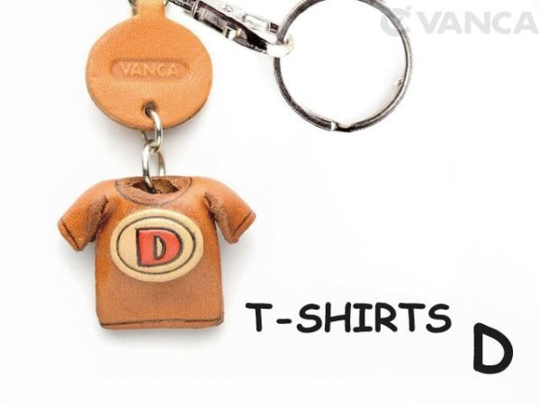 D(RED) LEATHER KEYCHAINS T-SHIRT