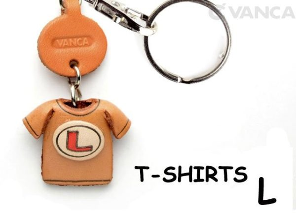 L(RED) LEATHER KEYCHAINS T-SHIRT