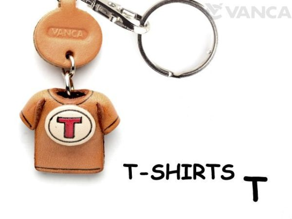 T(RED) LEATHER KEYCHAINS T-SHIRT