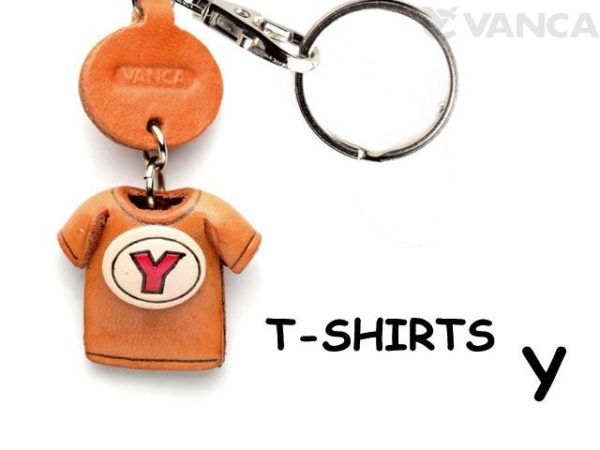 Y(RED) LEATHER KEYCHAINS T-SHIRT