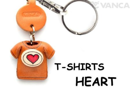 HEART MARK(RED) LEATHER KEYCHAINS T-SHIRT