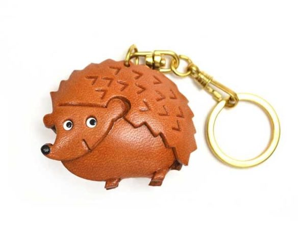 HEDGEHOG LEATHER KEYCHAIN(L)