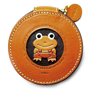 FROG HANDMADE GENUINE LEATHER ANIMAL ROUND COIN CASE