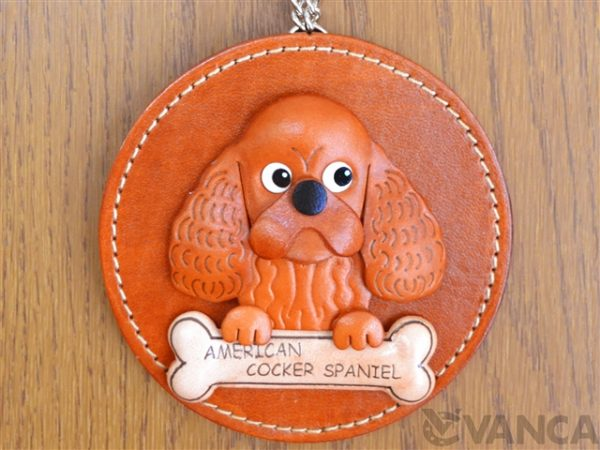 AMERICAN COCKER SPANIEL LEATHER WALL DECO