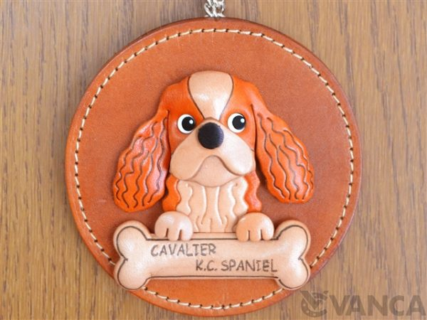 CAVALIER KC SPANIEL LEATHER WALL DECO