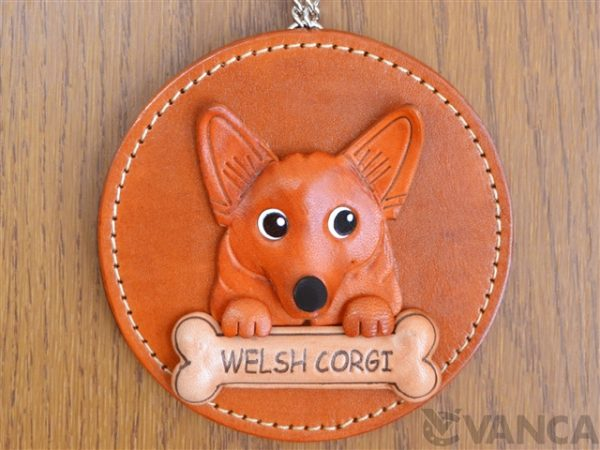 WELSH CORGI LEATHER WALL DECO