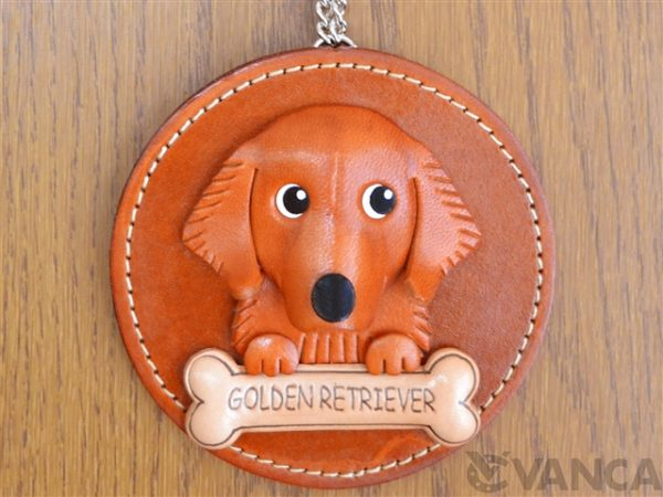 GOLDEN RETRIEVER LEATHER WALL DECO