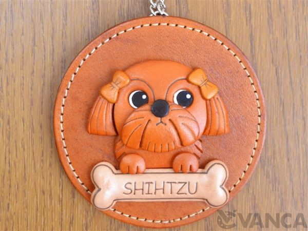 SHIH TZU LEATHER WALL DECO