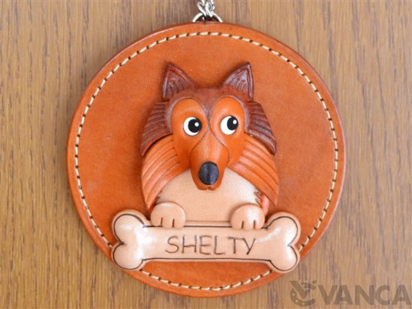 SHETLAND SHEEPDOG LEATHER WALL DECO