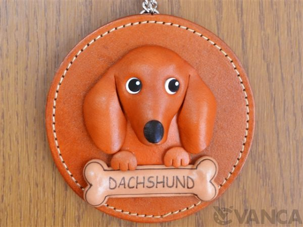 DACHSHUND LEATHER WALL DECO