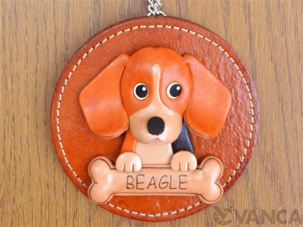 BEAGLE LEATHER WALL DECO