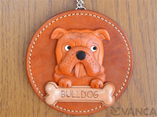 BULLDOG LEATHER WALL DECO