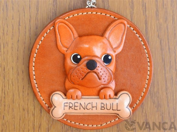 FRENCH BULLDOG LEATHER WALL DECO