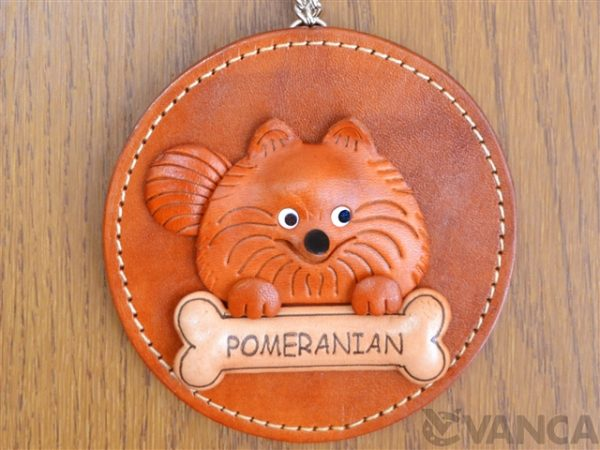 POMERANIAN LEATHER WALL DECO