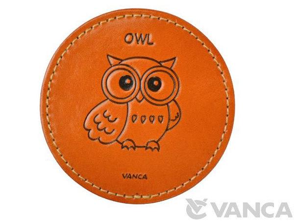 LEATHER COASTER OWL