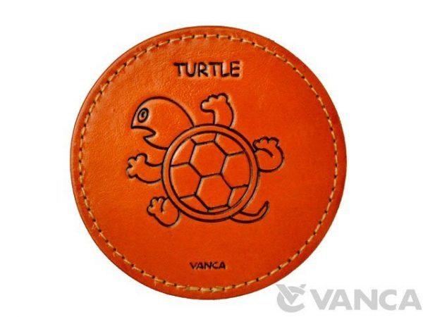 LEATHER COASTER TURTLE