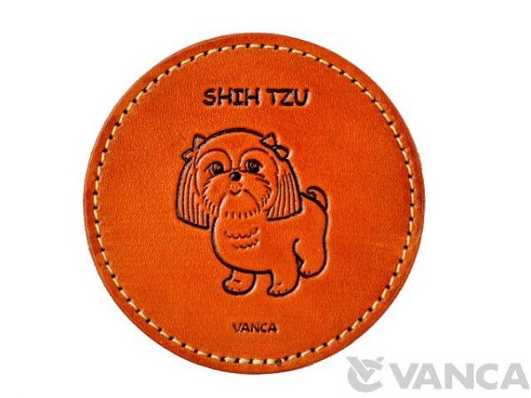 LEATHER COASTER SHI TZU
