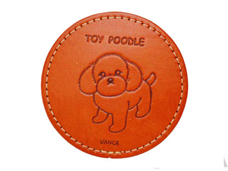 LEATHER COASTER TOY POODLE