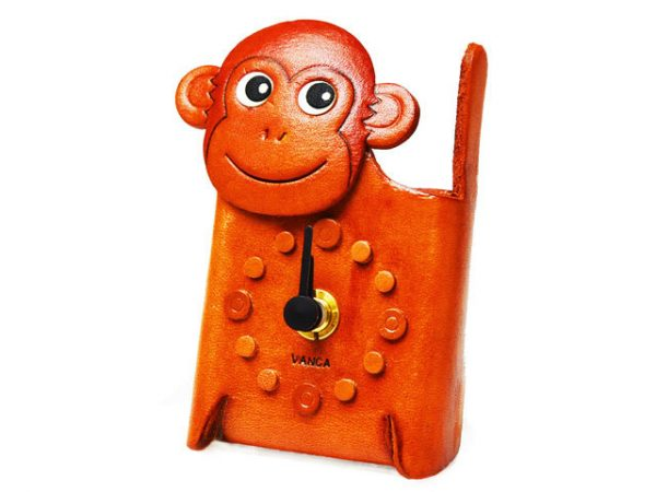 MONKEY JAPANESE LEATHER DESK CLOCKS