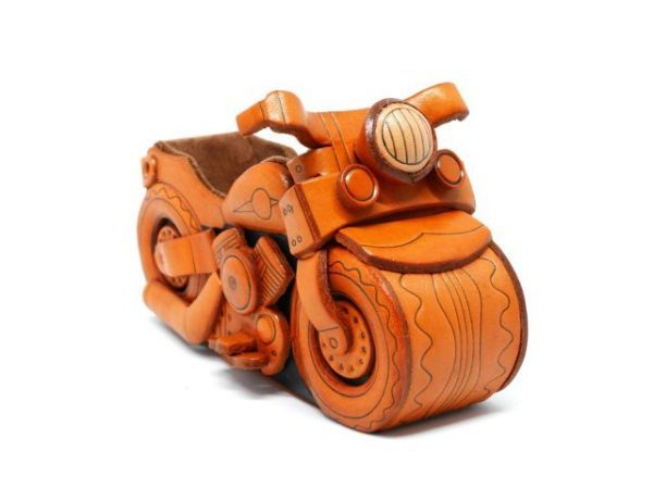 MOTER CYCLE HANDMADE LEATHER EYEGLASSES HOLDER/STAND