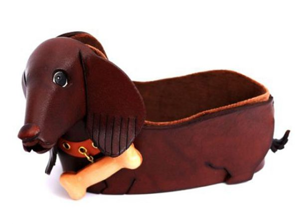 DACHSHUND HANDMADE LEATHER EYEGLASSES HOLDER/STAND