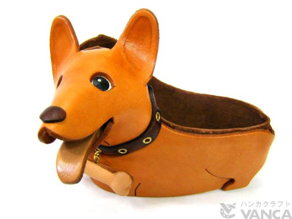 CORGI HANDMADE LEATHER DOG EYEGLASSES HOLDER/STAND