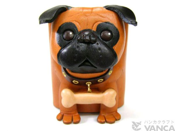 PUG HANDMADE LEATHER DOG EYEGLASSES HOLDER/STAND