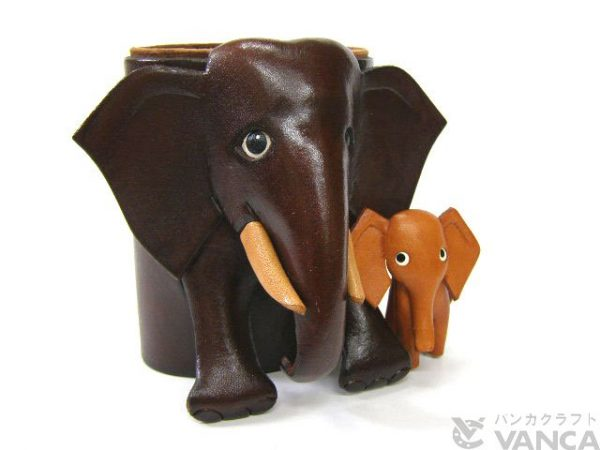 ELEPHANT JAPANESE LEATHER EYEGLASSES HOLDER/STAND