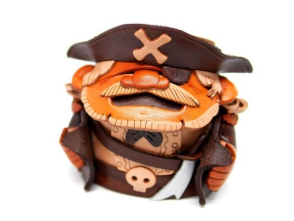 PIRATES HANDMADE LEATHER EYEGLASSES HOLDER/STAND