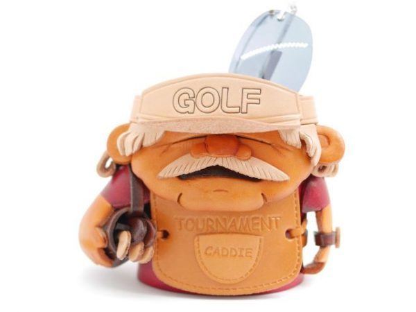 GOLF CADDY HANDMADE LEATHER EYEGLASSES HOLDER/STAND