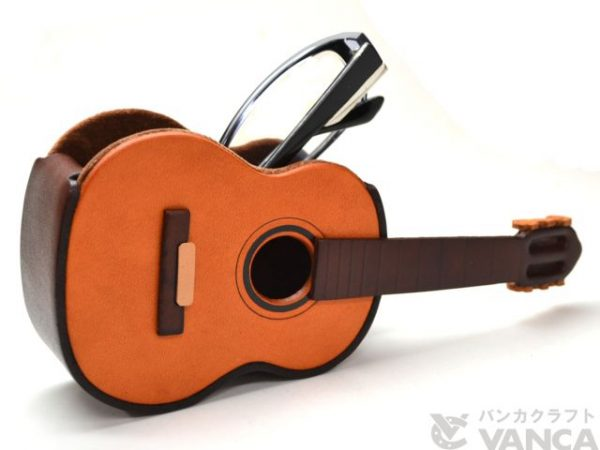 GUITAR HANDMADE LEATHER EYEGLASSES HOLDER/STAND