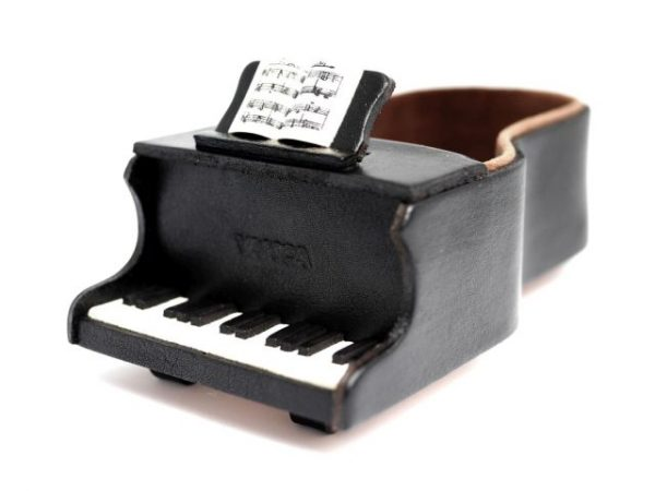 PIANO HANDMADE LEATHER EYEGLASSES HOLDER/STAND
