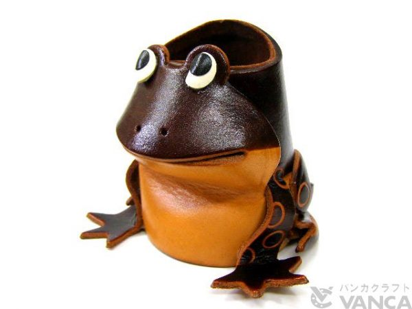 FROG HANDMADE LEATHER ANIMAL EYEGLASSES HOLDER/STAND