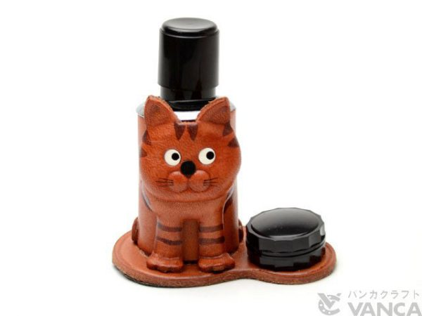 CAT JAPANESE LEATHER SEAL STAND