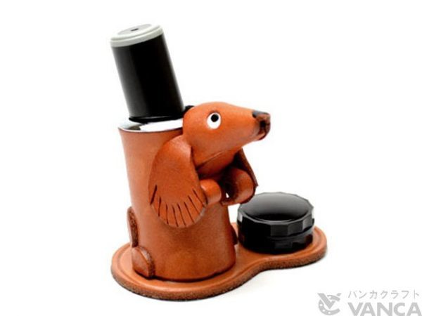 DACHSHUND LEATHER SEAL STAND