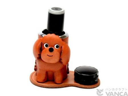 TOY POODLE LEATHER SEAL STAND