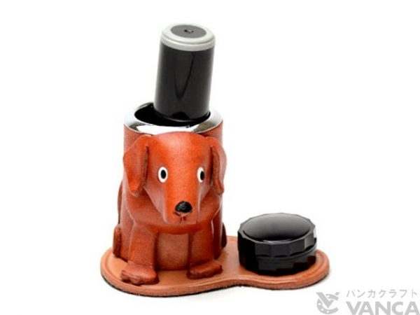 LABRADOR RETRIEVER LEATHER SEAL STAND