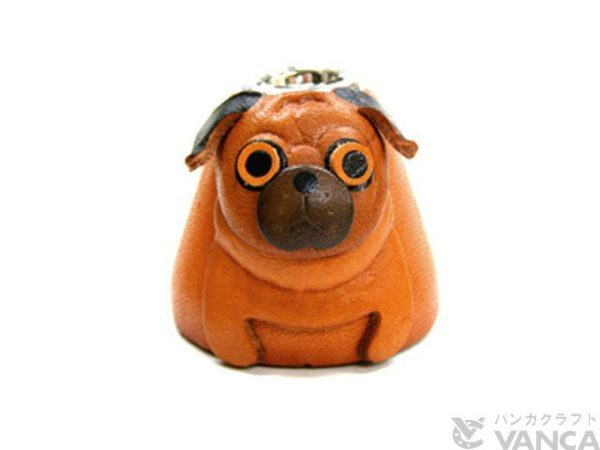 PUG LEATHER DESK PEN STAND