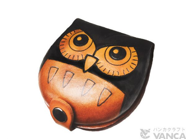 OWL HANDMADE GENUINE LEATHER ANIMAL COIN CASE/PURSE